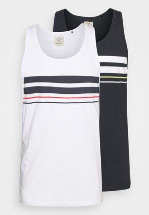 STRIPE 2 PACK - Top - white/navy