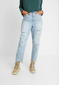 American Eagle - CURVY MOM JEAN - Jeans Relaxed Fit - light repair - 0