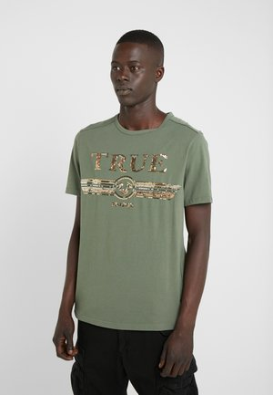 CREW SEQUIN THYME - Print T-shirt - khaki