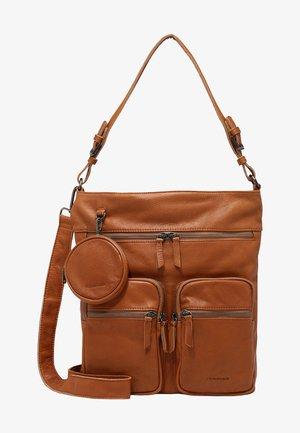 KUCKI ZIP - Handbag - dark honey