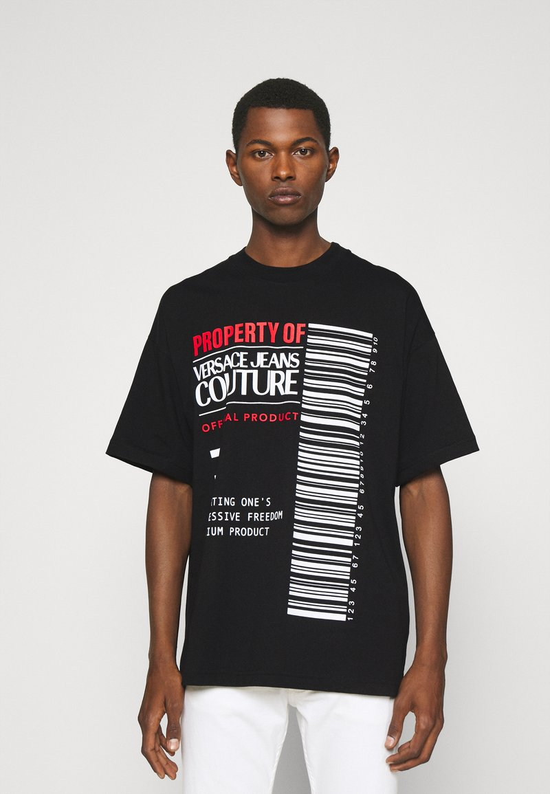 Versace Jeans Couture - INTERLOCK - T-shirt imprimé - nero