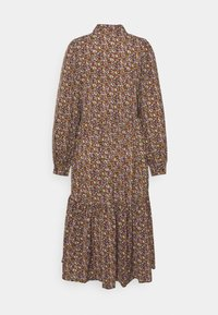 PIECES Tall - PCANJA MIDI DRESS - Shirt dress - black/brown/purple - 1