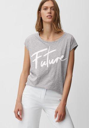SHORT SLEEVE ROUND NECK - Print T-shirt - slate sky melange