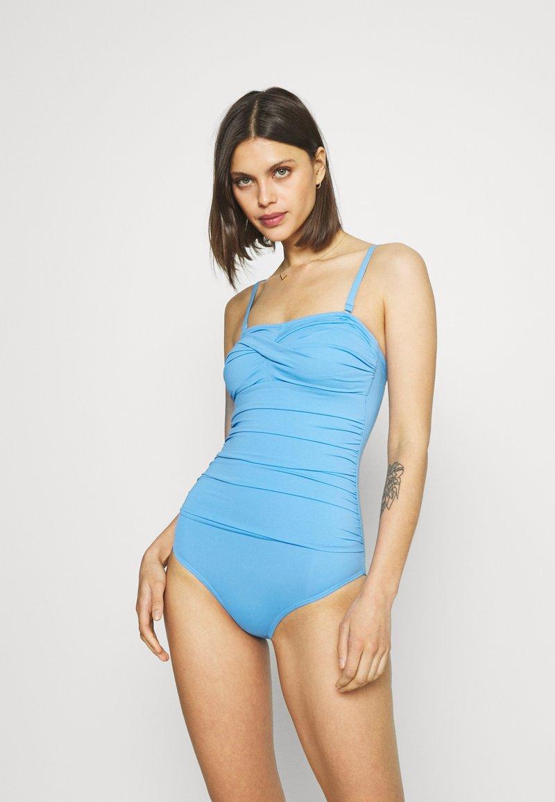Marks & Spencer London - MAGIC BANDEAU - Swimsuit - blue