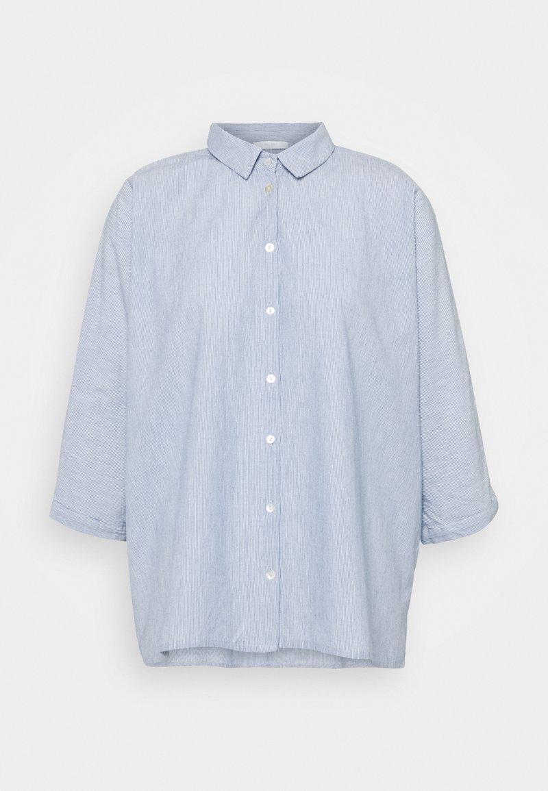 by-bar - NOREL PIN STRIPE BLOUSE - Button-down blouse - indi grey