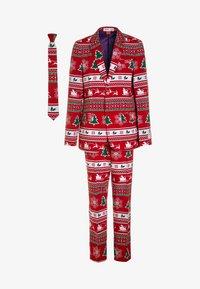 OppoSuits - TEEN BOYS WINTER WONDERLAND SET  - Suit - dark red - 0