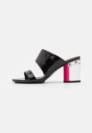 HEEL TWOSTRAPS - Heeled mules - black