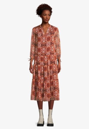 MIT 3/4 ARM - Day dress - orange/camel