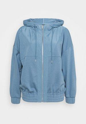 PANELLED ZIP THROUGH HOODIE - Zip-up sweatshirt - copen blue