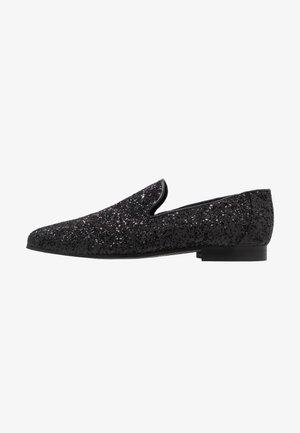 MAGPIE - Nazouvací boty - black glitter