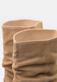Anna Field - LEATHER - High heeled boots - beige - 5