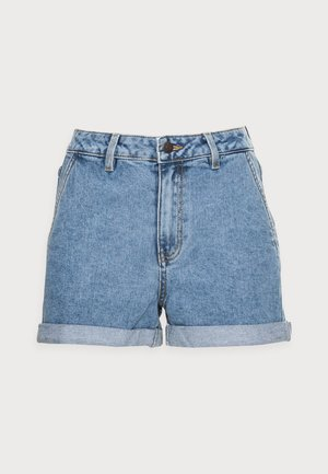 OBJPENNY FOLD DENIM  - Shorts - light blue denim
