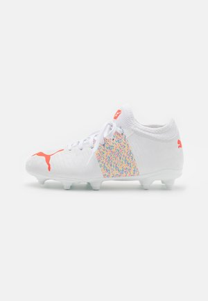 FUTURE Z 4.1 FG/AG JR UNISEX - Moulded stud football boots - white/red blast
