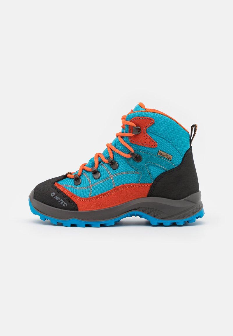 Hi-Tec - CARNIVAL WP JR UNISEX - Hiking shoes - light blue/orange