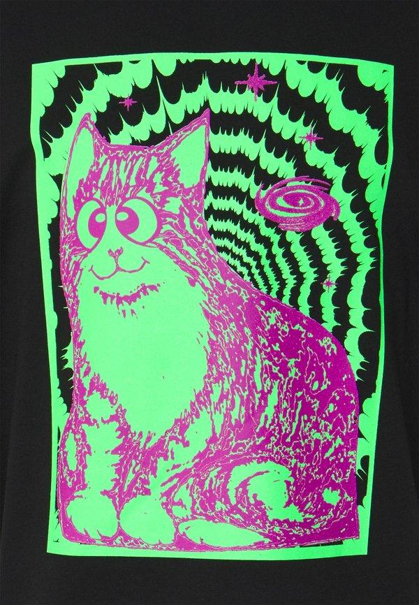 Weekday GREAT PRINTED - T-shirt z nadrukiem - cosmic/czarny Odzież Męska OYFS
