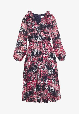 CLUSTER FLORAL FIT AND FLARE DRESS - Day dress - ink