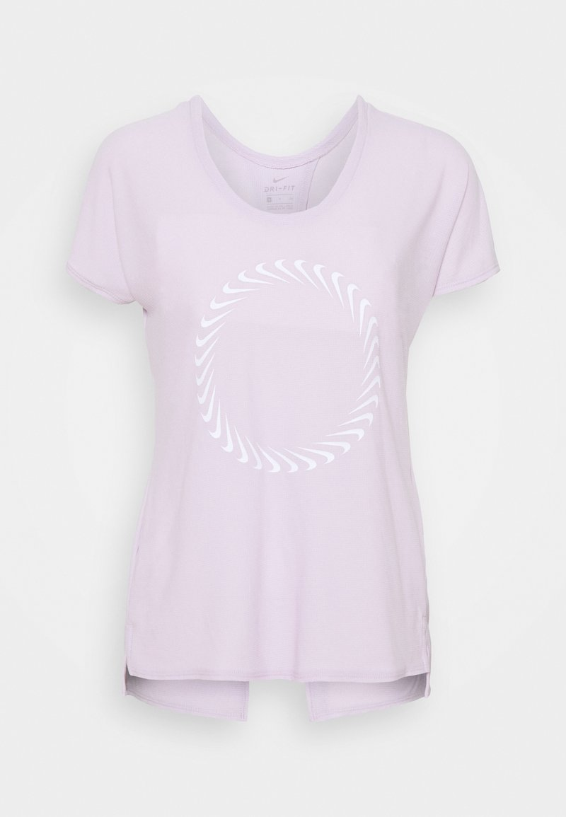 Nike Performance - ICON CLASH MILER  - T-shirts med print - iced lilac