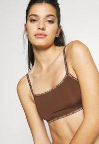 Calvin Klein Underwear - UNLINED BRALETTE 2 PACK - Steznik - rich espresso - 3