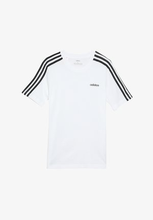 ESSENTIALS 3STRIPES SPORT SHORT SLEEVE TEE - T-Shirt print - white/black