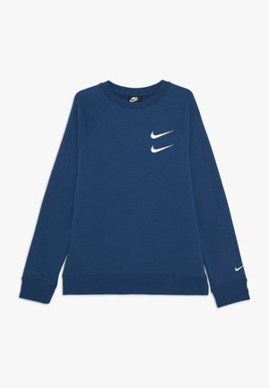 CREW - Sweatshirt - blue foam/white