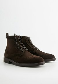 Mango - PICADOS - Lace-up ankle boots - braun - 2
