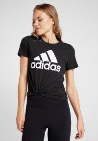 adidas Performance - W MH BOS TEE - Sports shirt - black - 0
