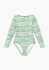 South Beach - GIRLS PRINTED BALLET LEOTARD - Danspakje - sage green - 0