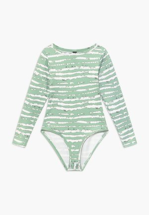GIRLS PRINTED BALLET LEOTARD - Danspakje - sage green