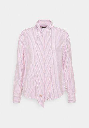 OXFORD - Button-down blouse - pink/navy
