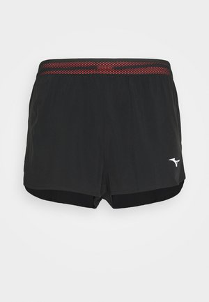 AERO SPLIT  - Sports shorts - black/ignitionred