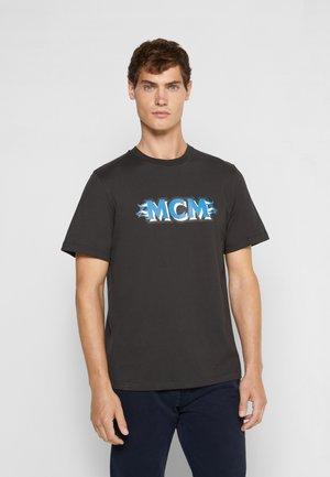 LOGO GROUP SHORT SLEEVES - Print T-shirt - black