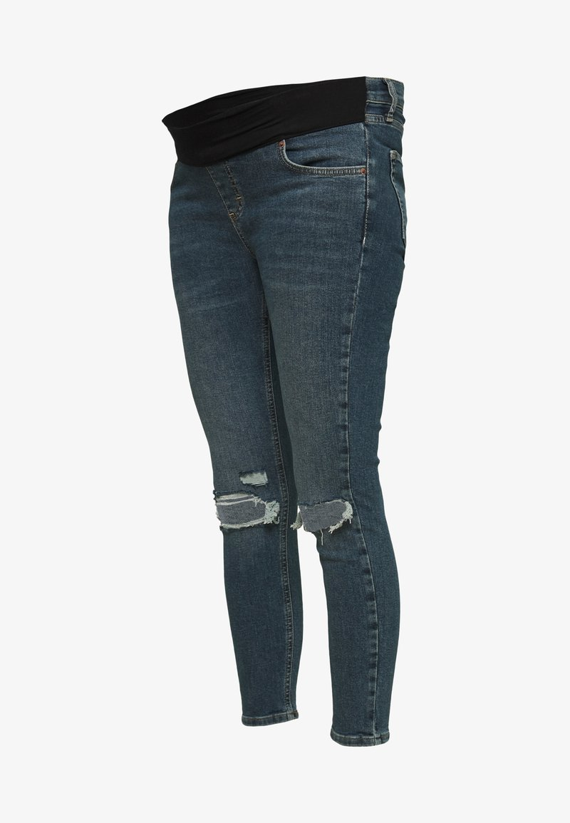 Topshop Maternity - JAMIE ALABAMA RIP - Jeans Skinny Fit - green cast