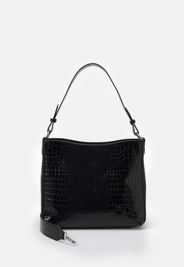 AMBLE CROCO - Handtas - black