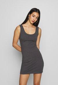 Even&Odd - 2 PACK - Shift dress - grey/black - 2