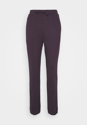 TERRY  - Tracksuit bottoms - aubergine