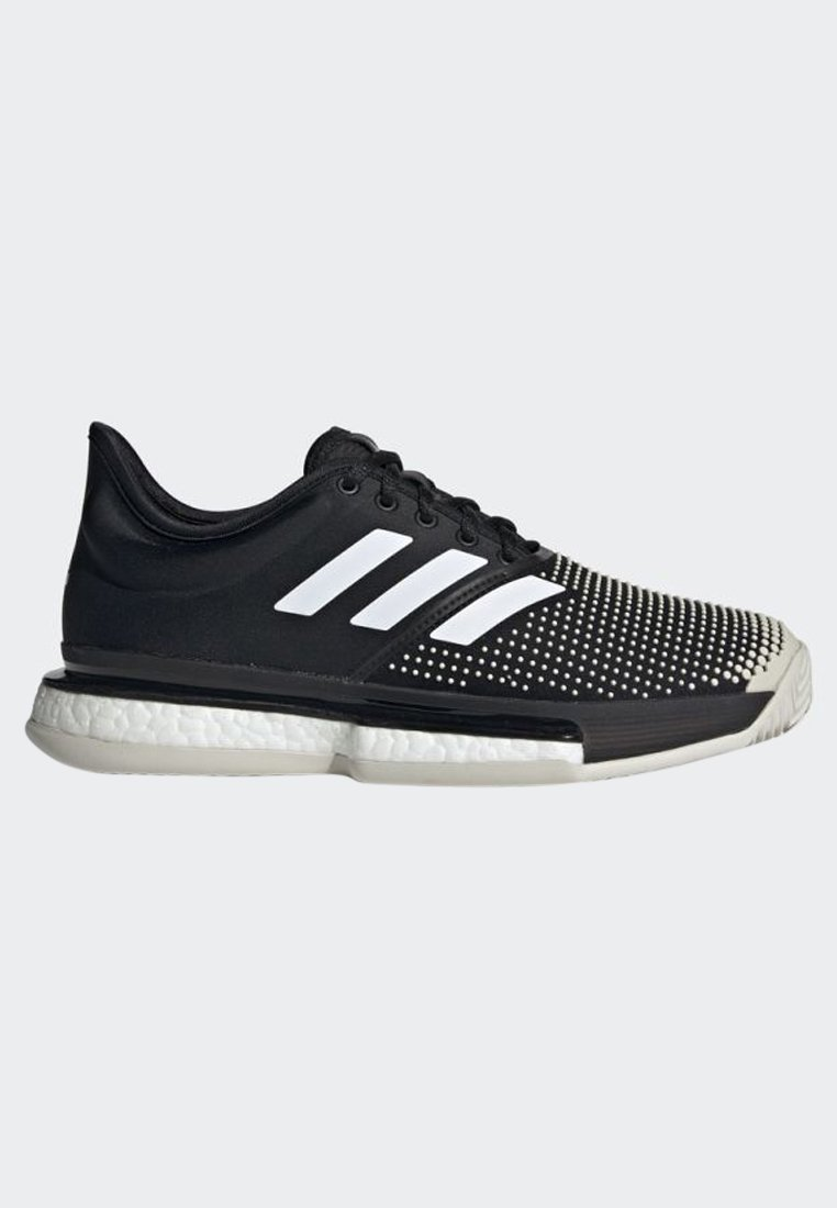 adidas Performance SOLECOURT BOOST CLAY SHOES - Clay court tennissko - black/white