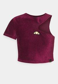 Ellesse - MARGIOT - Print T-shirt - burgundy - 4