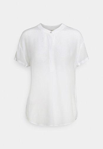 BLOUSE FABRIC MIX - Basic T-shirt - white
