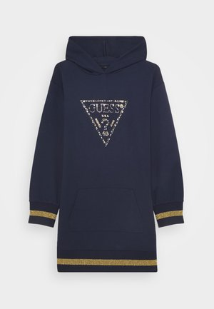 JUNIOR HOODED DRESS - Korte jurk - deck blue