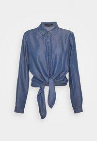 LANGARM - Button-down blouse - dark blue