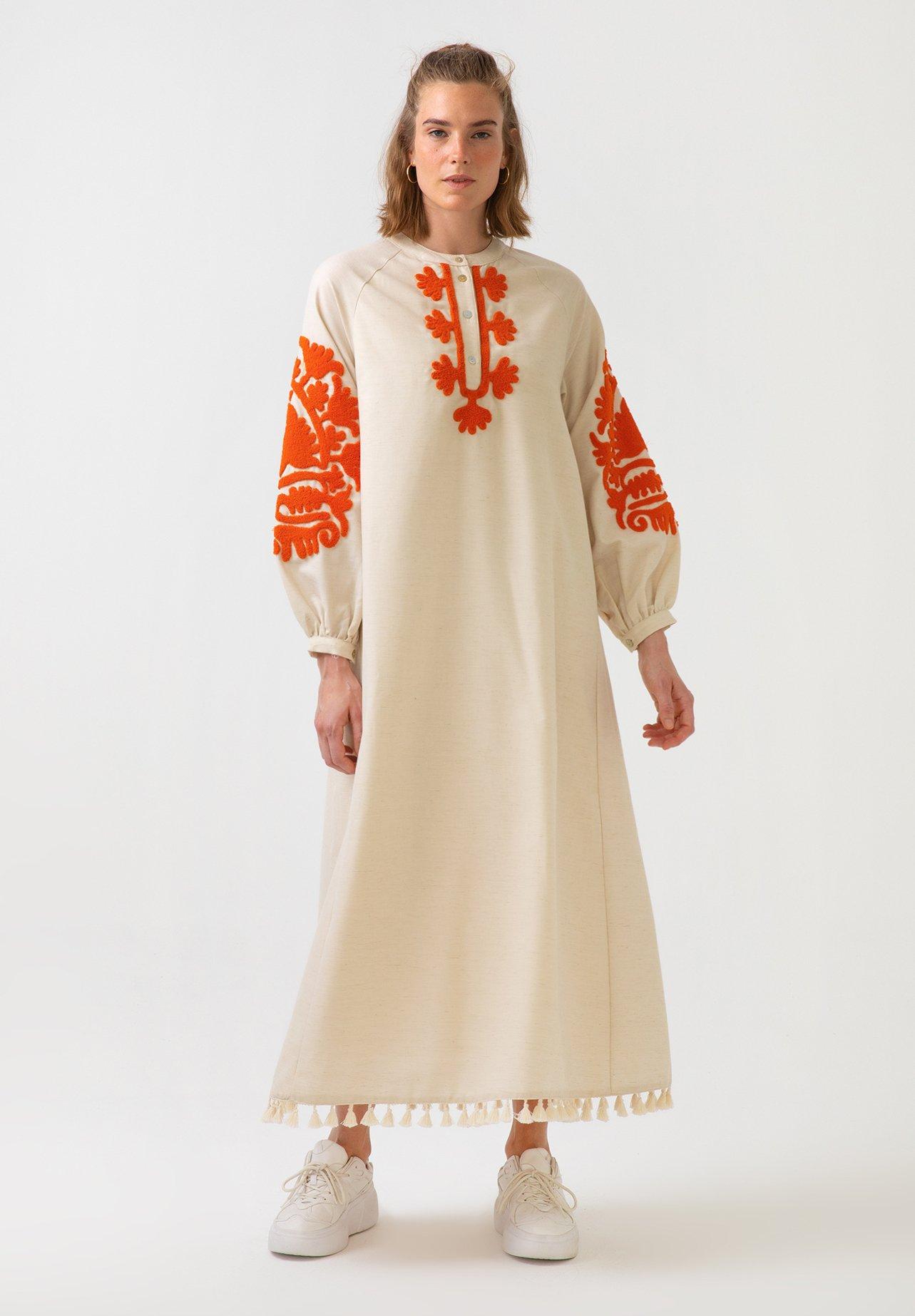 Femme LINEN DRESS - Robe longue