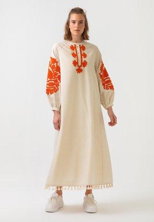 LINEN DRESS - Robe longue - beige