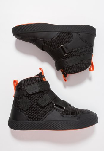 PALLASTREET MID - High-top trainers - black/firecracker