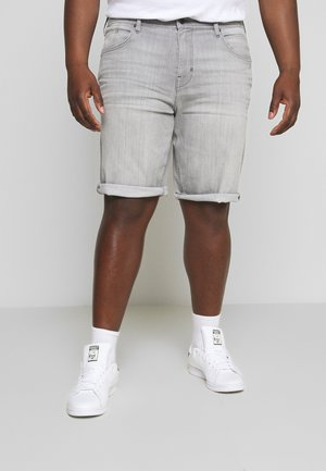 Denim shorts - grey light wash