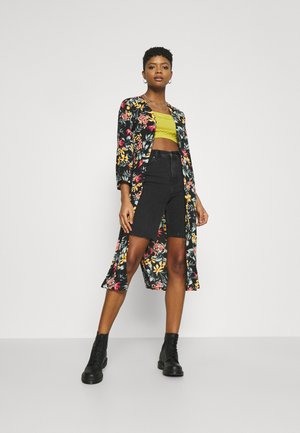 JOSEPHINE LONG KIMONO - Summer jacket - black/tropical