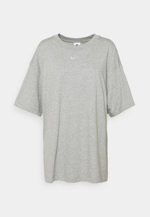 PLUS - T-shirt basic - grey heather/white