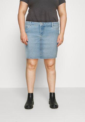 VMFAITH SHORT SKIRT MIX - Mini skirt - light blue denim
