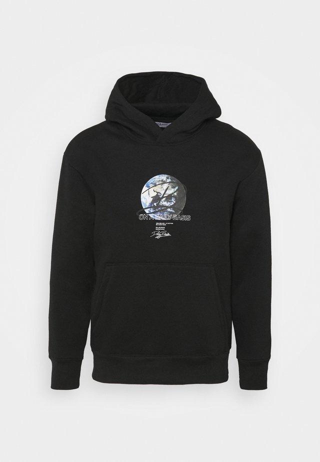 GLOBE HOOD UNISEX - Sweatshirt - black