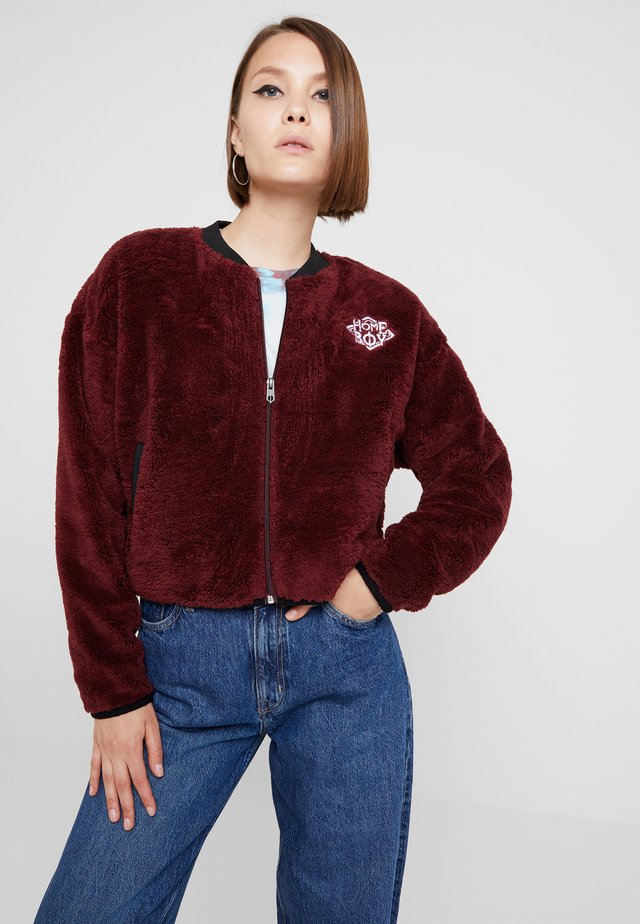 POODLE - Fleece jacket - bordeaux