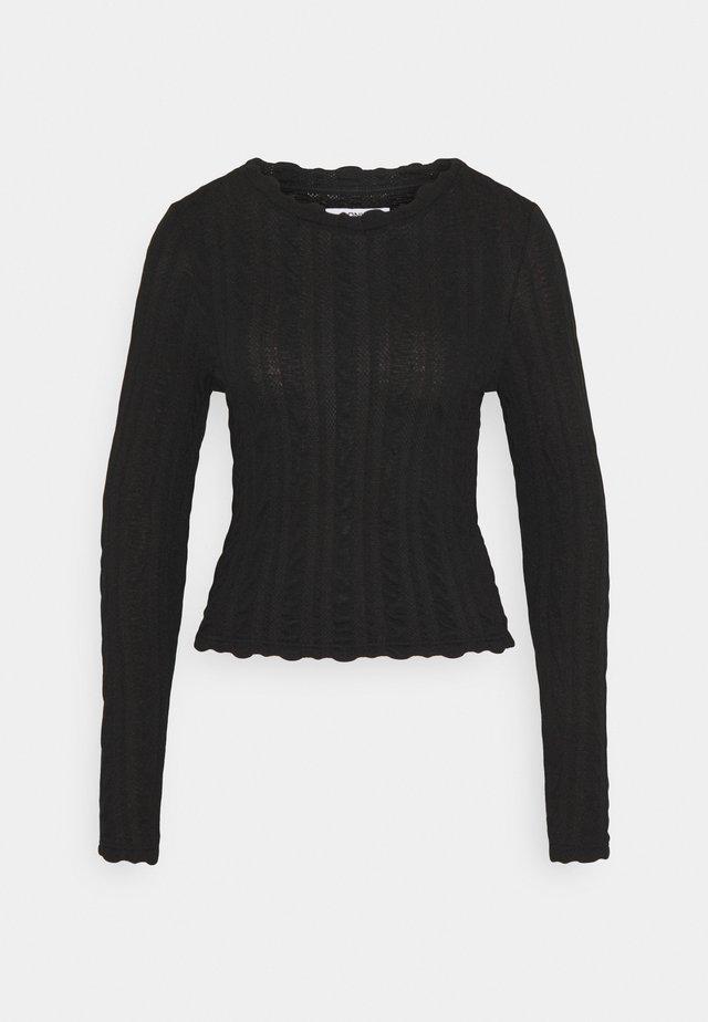 ONLKELLY CROPPED  - Maglietta a manica lunga - black